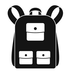 traditional backpack icon simple style vector image