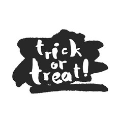 Trick or treat with ink scribble vector
