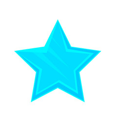 Turquoise cartoon glossy star vector
