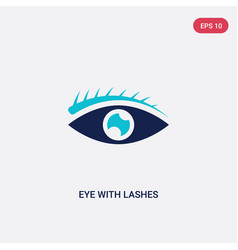 Two color eye with lashes icon from human body vector