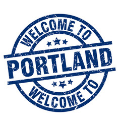 Welcome to portland blue stamp vector