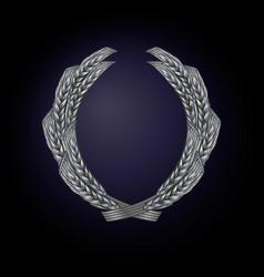 wreath wheat color silver vector image
