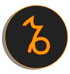 Zodiac capricorn vector image