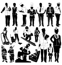 city workers vector image
