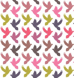 Colorful doves pattern vector image