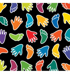 feet and hands vector image vector image