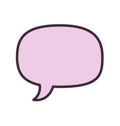 isolated cute chat bubble vector image
