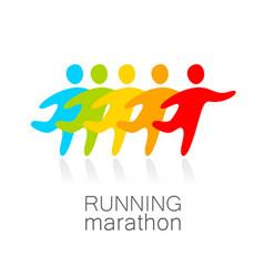 running marathon template design vector image