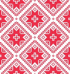 Seamless Ukrainian Slavic folk art red pattern vector image vector image