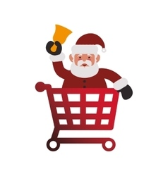 Shopping cart of Merry Christmas design vector image vector image