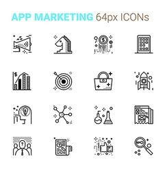 App Marketing pixel perfect icons vector image