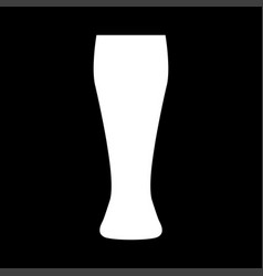 beer glass white color icon vector image vector image