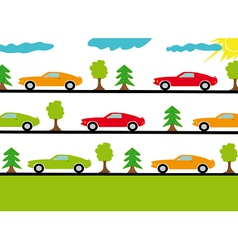 Colored sport cars vector image