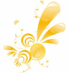 glossy floral design vector image vector image