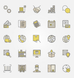 logistic colorful icons collection vector image vector image