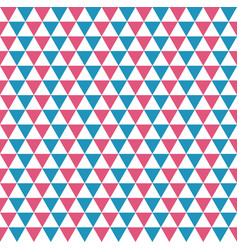 seamless pattern of blue red and white triangles vector image