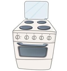 cartoon home kitchen stove vector image vector image