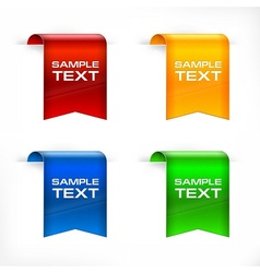 Color labels stickers text vector image vector image