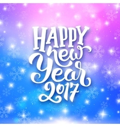 Happy New Year typography on festive background vector image