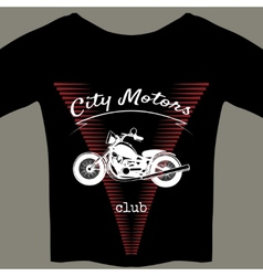 Motorcycle design template for t-shirt vector