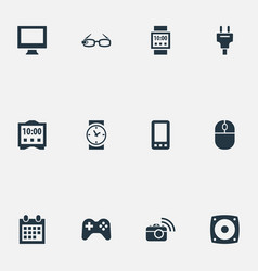 Set of simple web icons vector