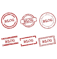 Blog stamps vector image vector image