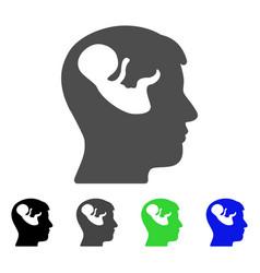 embryo mind head icon vector image vector image
