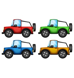 Four colorful jeepneys vector image vector image
