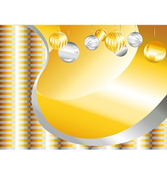 Gold and silver Christmas background vector image vector image
