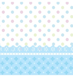 Greeting card or a baby shower vector image
