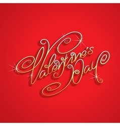 Hand drawn Valentines Day Lettering vector image vector image