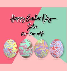 minimalistic template design with easter eggs vector image vector image