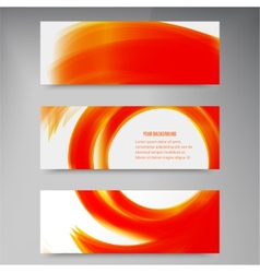 Set of modern banners with lines vector image vector image