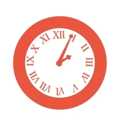 time clock numbers romans vector image