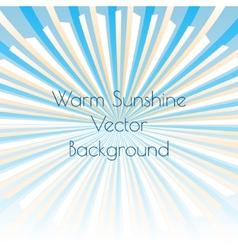 Warm sunshine rays vector image