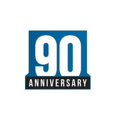 90th anniversary icon birthday logo vector image