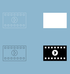 A frame from a movie the black and white color vector
