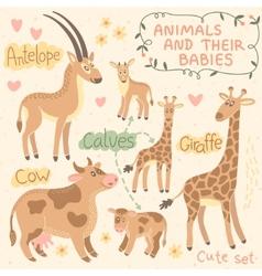 Baand mommy animal set vector