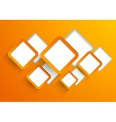 Background with orange squares vector image