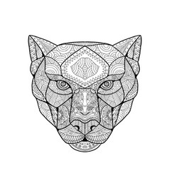 Black panther entangle vector