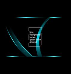 blue light ribbon wave on a black background vector image
