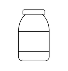bottle in blank vector image