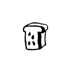 bread grunge icon modern brush ink vector image