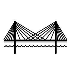 bridge icon simple black style vector image