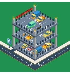 Car Parking Concept vector
