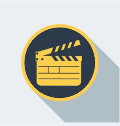 Cinema clipboard icon vector
