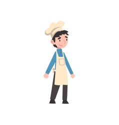 Cute boy dressed as chef kids future profession vector
