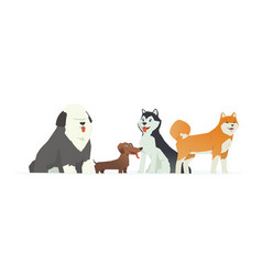 cute dogs - modern cartoon characters vector image