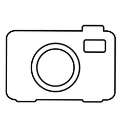 digital photo camera icon vector image