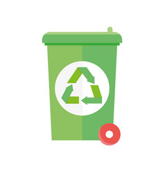 ecology renewable environment bin trash recycle vector image